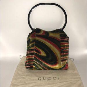 0993f9f88 Authentic Gucci RARE Vintage Velvet Bucket Handbag